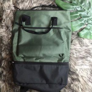 DSW green backpack NWOT